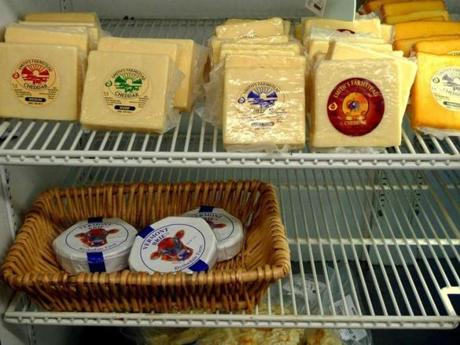 Smith's Country Cheese in Winchendon sells its own farmstead cheeses and those of fellow New England cheese makers.